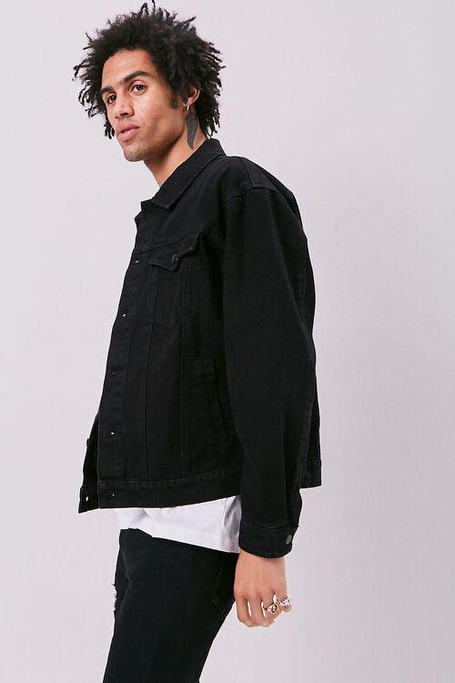 BLACK/MULTI Guadalupe Graphic Denim Jacket, image 3