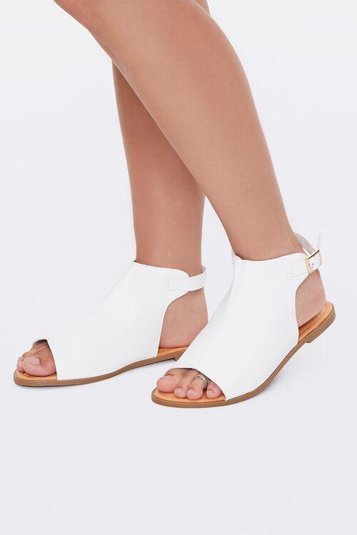 Faux Leather Cutout Sandals, image 1