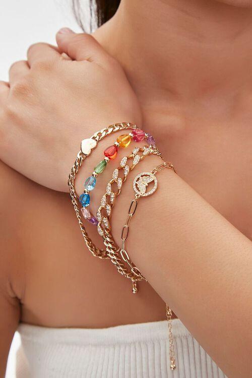 Heart & Butterfly Bracelet Set, image 1