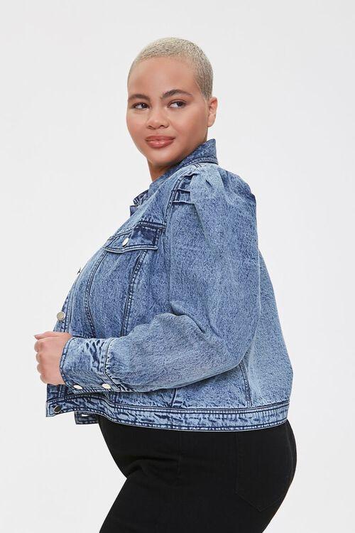 Plus Size Puff-Sleeve Jacket, image 2