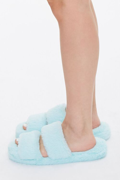 Plush Faux Fur Slippers, image 2