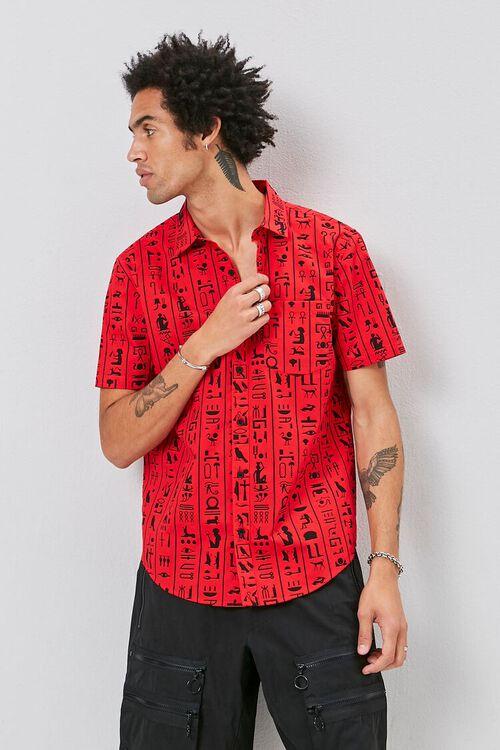 Hieroglyphics Print Pocket Shirt, image 2