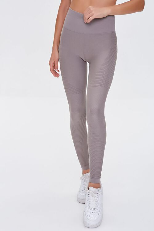 TAUPE Active Seamless Leggings, image 2
