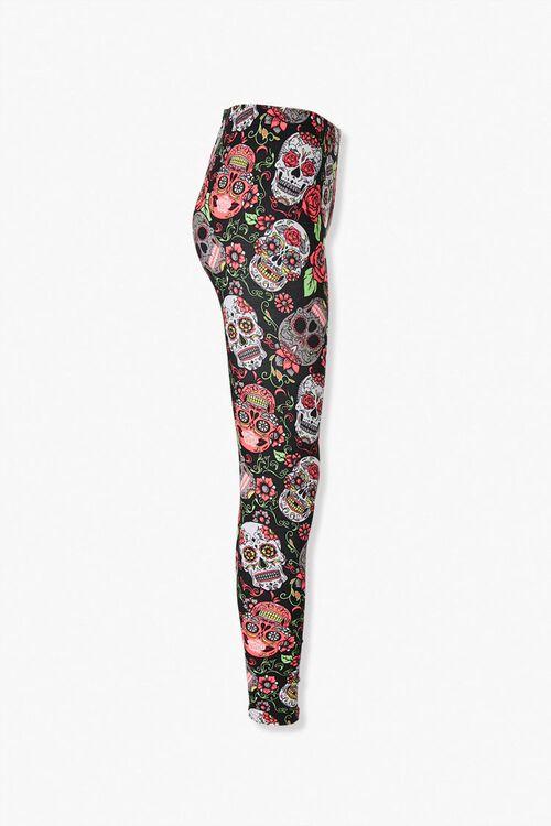 Candy Skull Print High-Rise Leggings, image 2