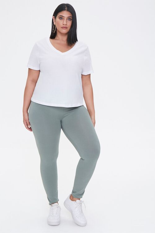 Plus Size High-Rise Leggings, image 1
