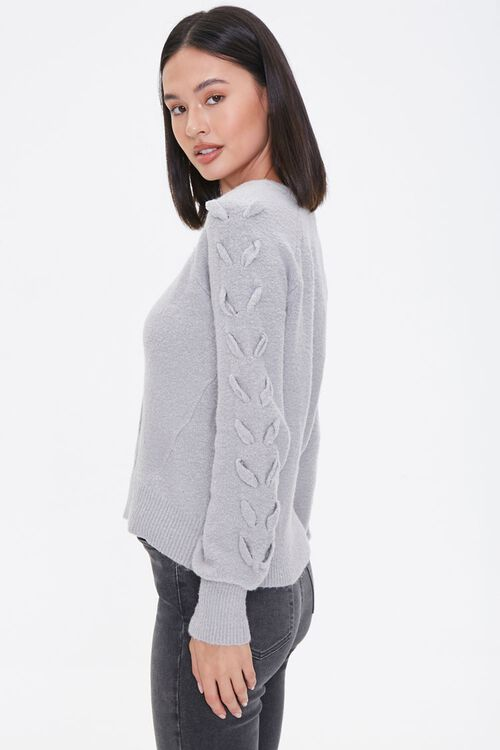 Lace-Up Sleeve Sweater, image 2