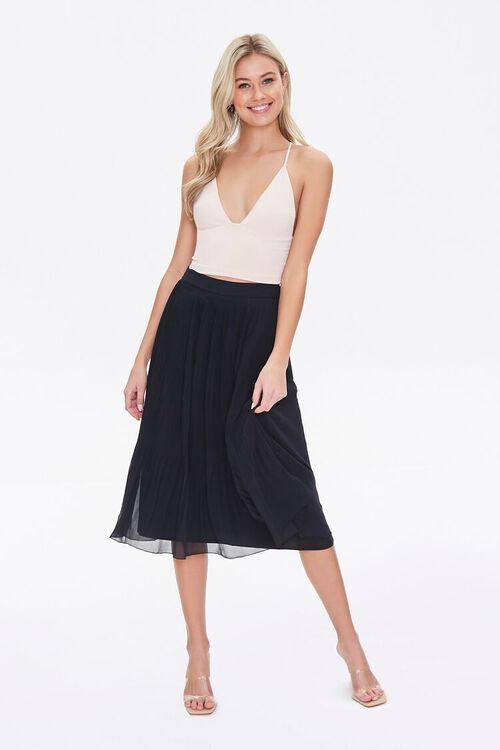 Knee-Length Pleated Skirt, image 5