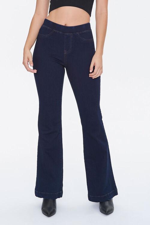 DARK DENIM High-Rise Flare Jeans, image 2