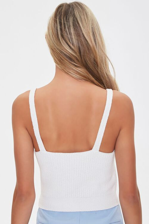 Sweater-Knit Lace-Up Cami, image 3