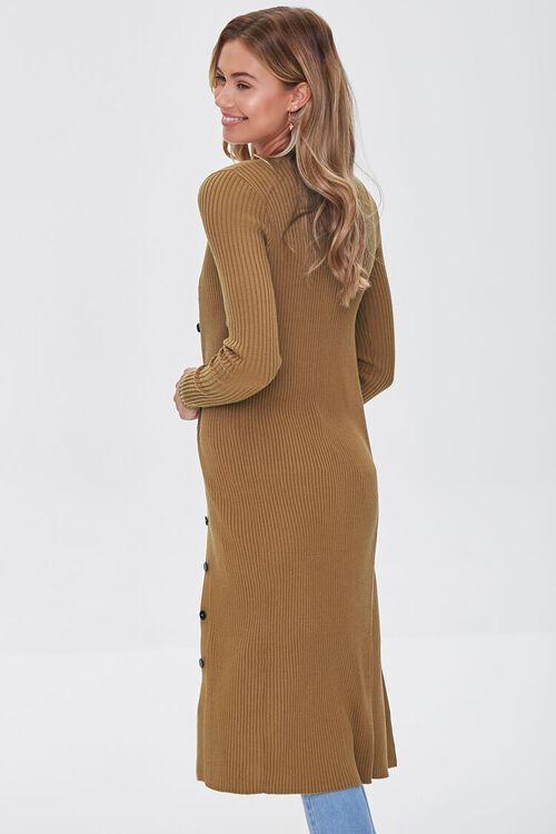 Ribbed Longline Cardigan Sweater, image 2