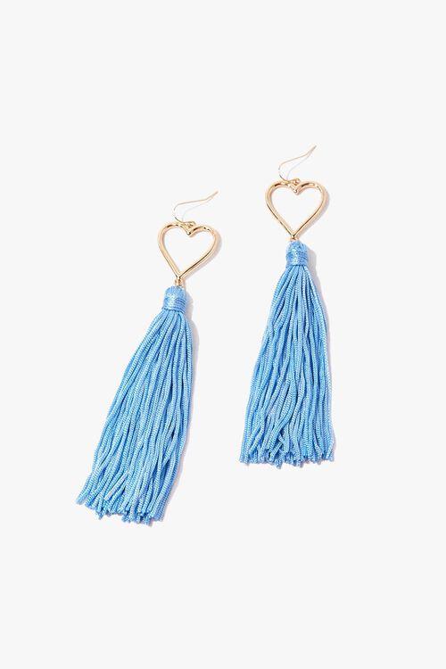 Tasseled Heart Duster Earrings, image 2