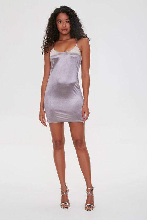 SILVER Metallic Cami Mini Dress, image 4