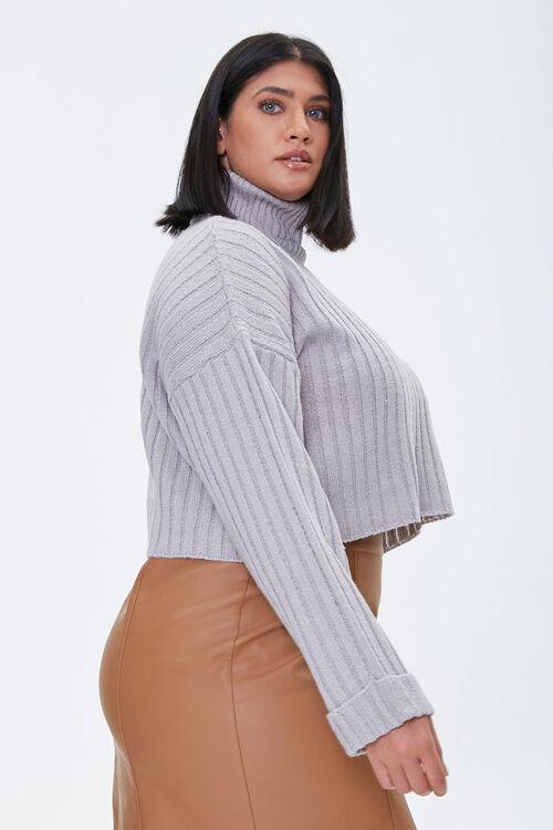 Plus Size Ribbed Turtleneck Sweater, image 2