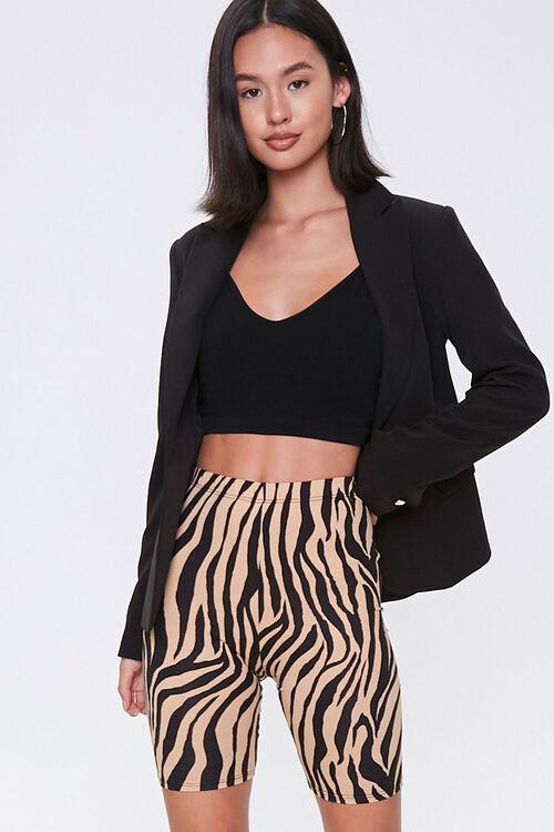 Tiger Print Biker Shorts, image 1