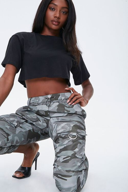 Camo Cargo Ankle Joggers, image 1