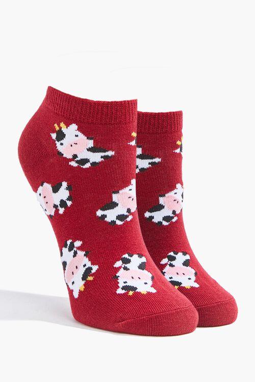 Cow Print Ankle Socks, image 1