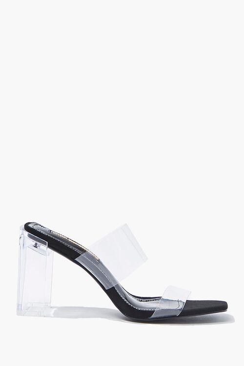 Dual-Strap Lucite Heels, image 1
