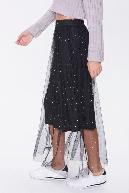 Faux Gem Mesh Midi Skirt, image 3