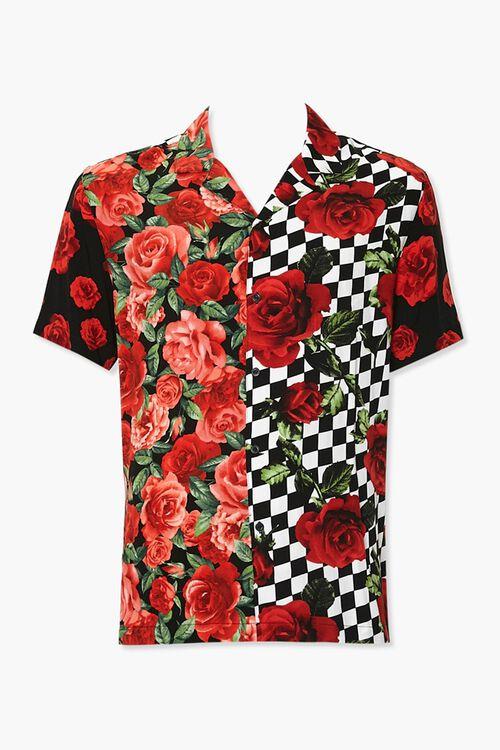 Classic Fit Rose Print Shirt, image 1