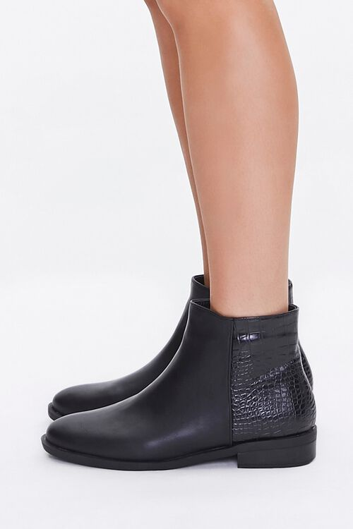 Faux Croc Leather Booties, image 2