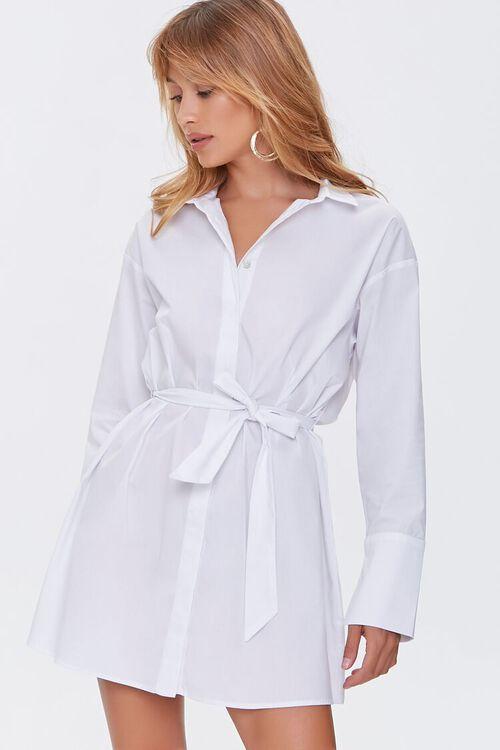 Belted Mini Shirt Dress, image 1
