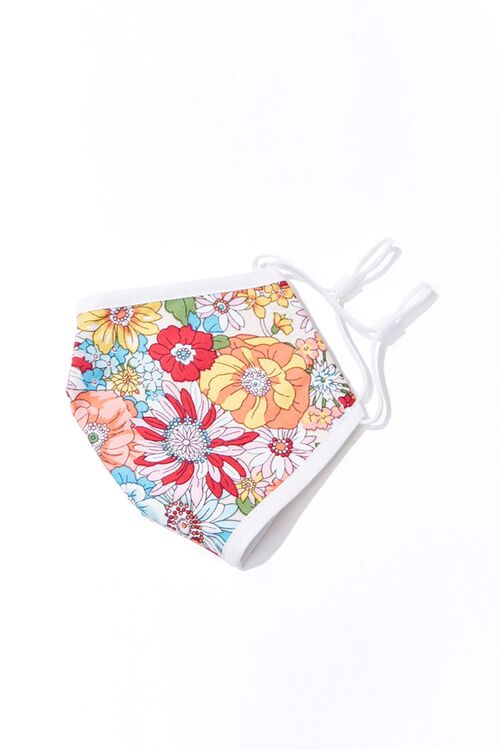 Girls Floral Print Face Mask (Kids), image 3