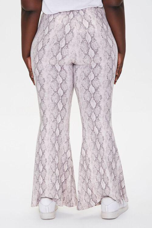 Plus Size Jordyn Snake Print Flare Pants, image 4