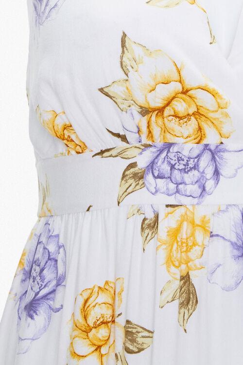 Plus Size Floral Print Halter Dress, image 4