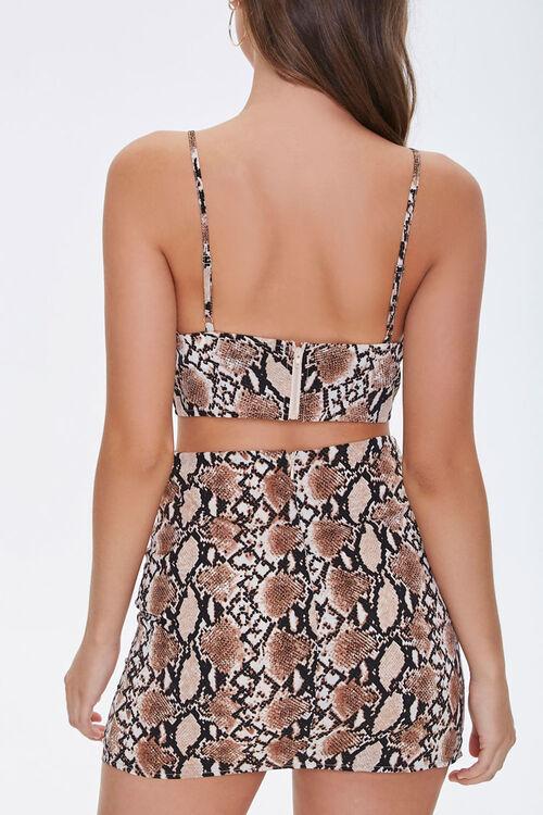 Faux Cropped Cami & Mini Skirt Set, image 3