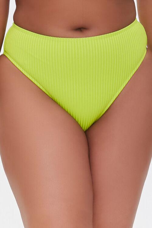 Plus Size Ribbed Bikini Bottoms, image 2