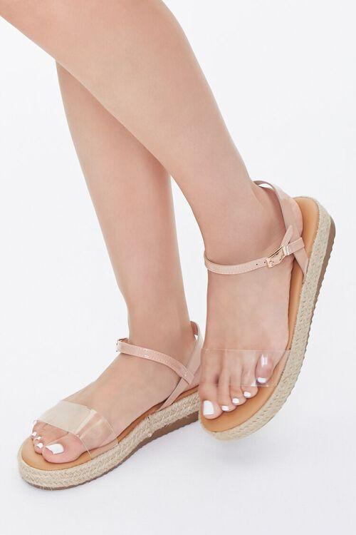 Clear-Strap Espadrille Flatform Sandals, image 1