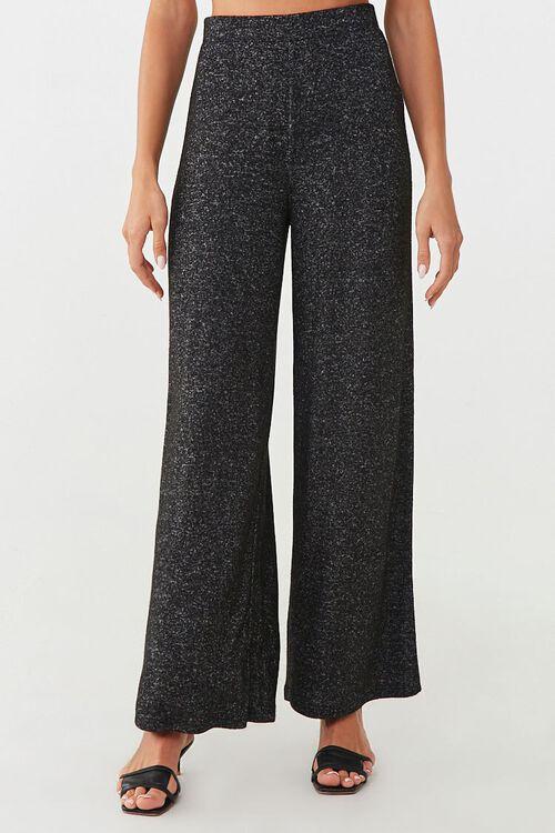 CHARCOAL Wide-Leg Fleece Sweatpants, image 2