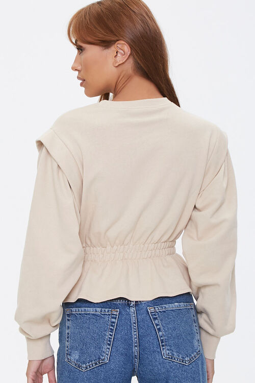 French Terry Flounce-Hem Top, image 3