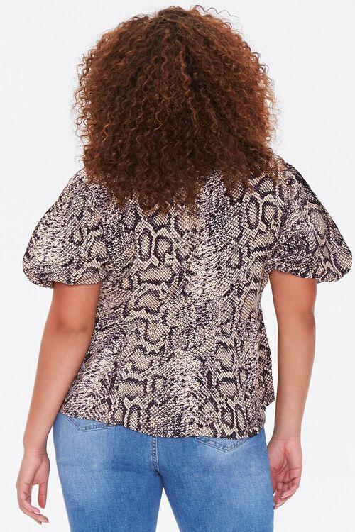 Plus Size Snakeskin Print Shirt, image 3