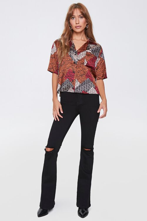 Boxy Animal Print Shirt, image 4