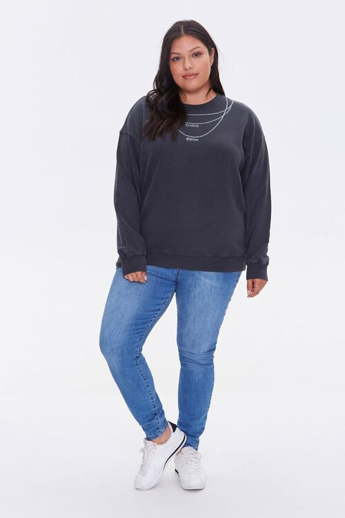 Plus Size Embroidered Pullover, image 4