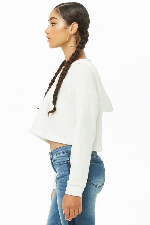 CREAM Cropped Hooded Pullover, image 2