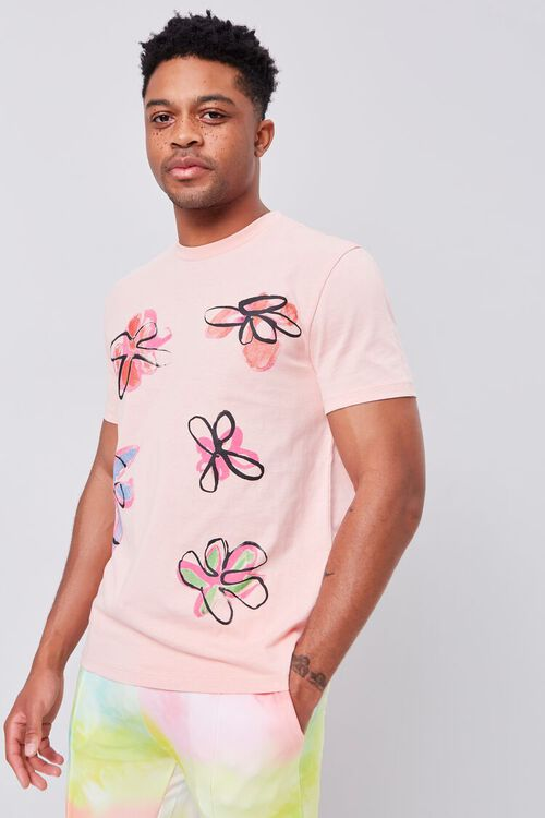 Floral Organically Grown Cotton Tee, image 1
