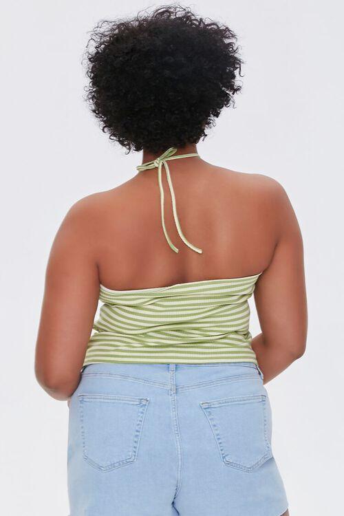Plus Size Striped Halter Top, image 3