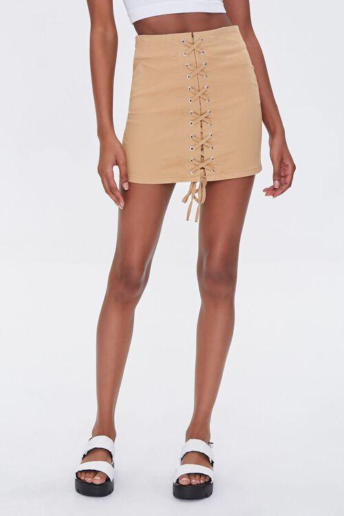 Lace-Up Mini Skirt, image 2