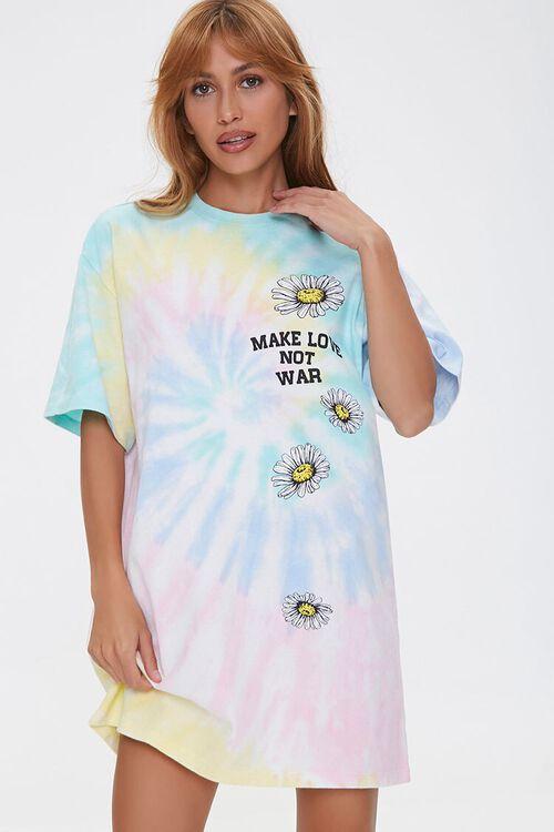 Make Love Not War Graphic T-Shirt Dress, image 1
