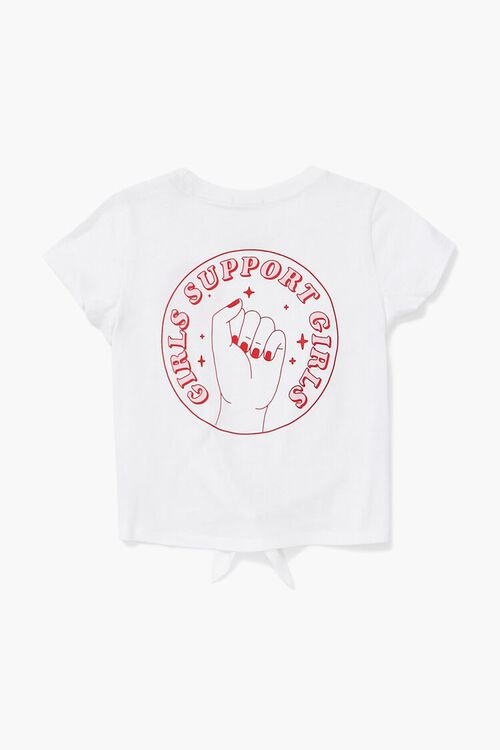 Girls Support Graphic Knotted Tee (Kids), image 2