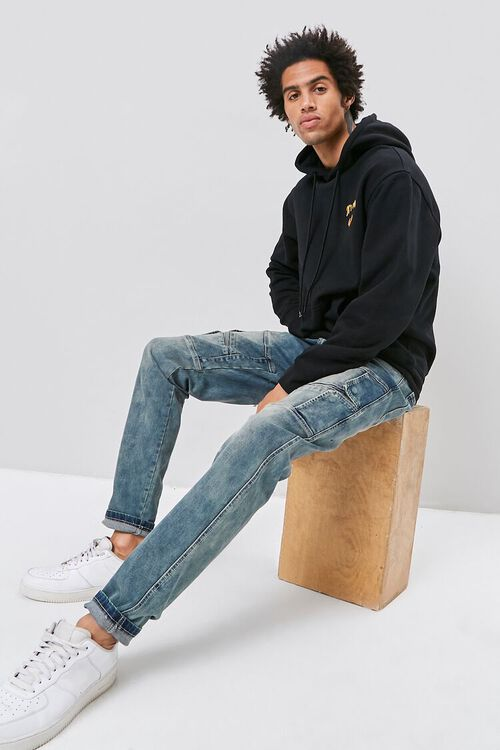 Flap-Accent Straight-Leg Jeans, image 1