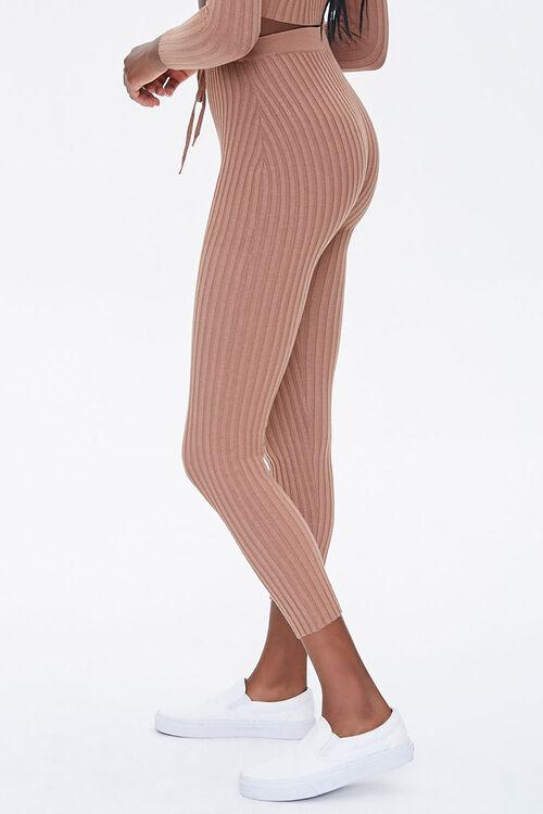 Ribbed Drawstring Leggings, image 3