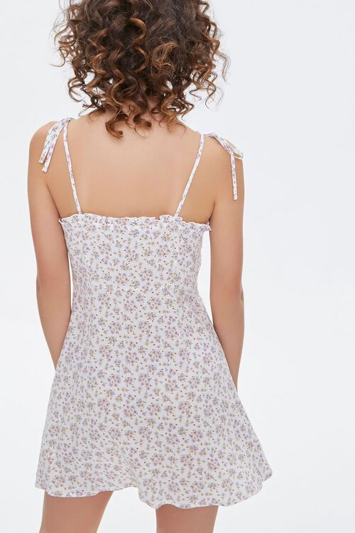 Floral Self-Tie Cami Dress, image 3