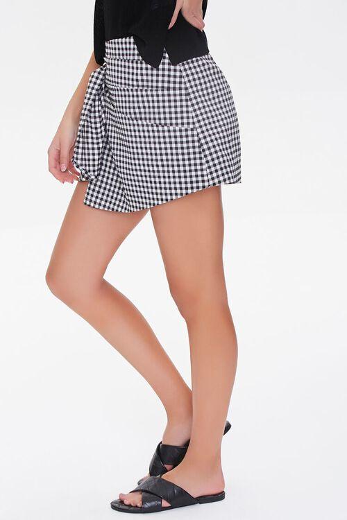 Checkered Tie-Waist Skort, image 3