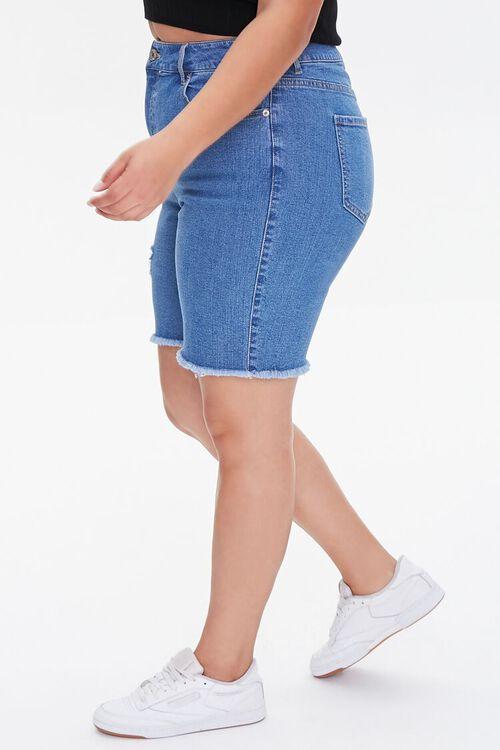 Plus Size Denim Bermuda Shorts, image 3
