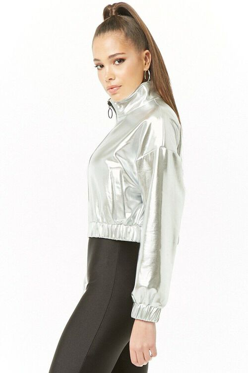 Metallic Cropped Jacket, image 2