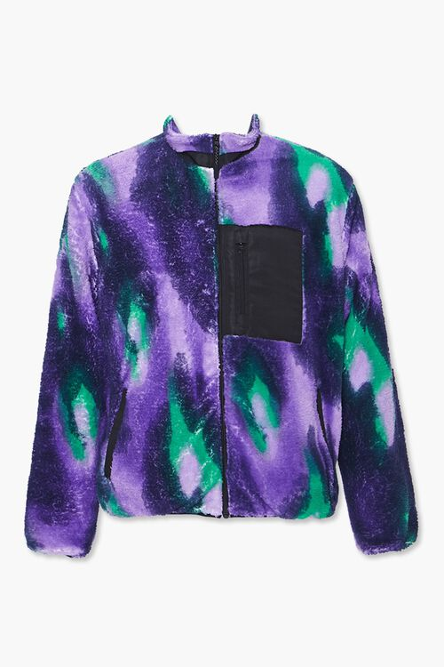 Watercolor Fleece Zip-Up Jacket, image 1