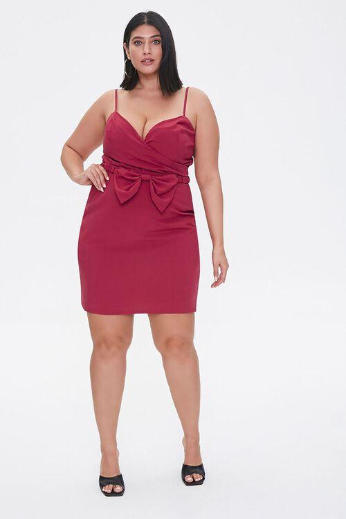 Plus Size Bow Mini Dress, image 4